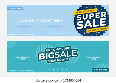 Vector Abstract Sales Promotion Banner Template Vector Eps 10