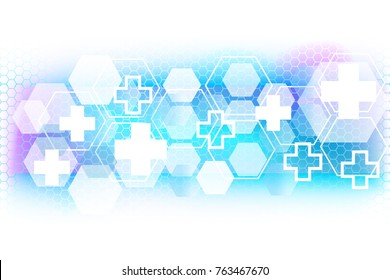 Vector Abstract science geometric Background. Medical background