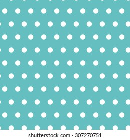 Vector abstract seamless pattern with dots. Polka dots background