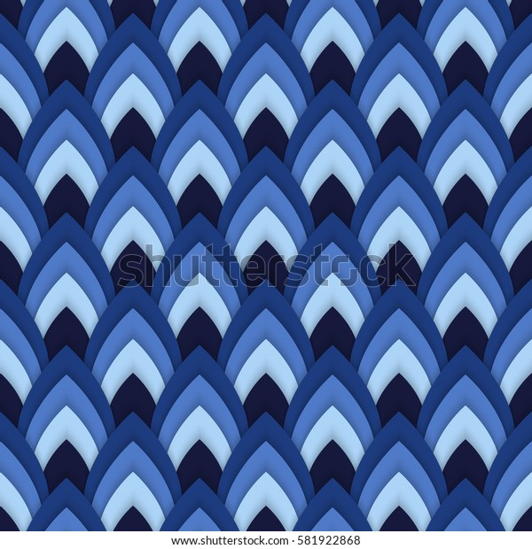 Vector abstract seamless pattern with pointed ovals