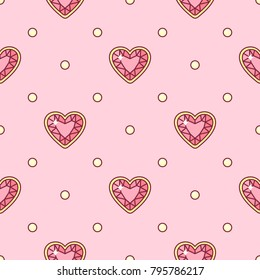 vector abstract seamless pattern. Simple Little Princess concept for girl. Fill drawing illustration. Cute childish fabric background. Print art graphic backdrop texture. Wrapping design for kids 007