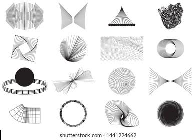 Vector Abstract Set Shape Geometric universal design form