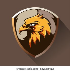 Vector abstract, shape eagle head as an emblem