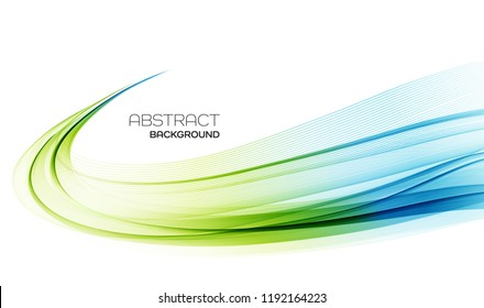 Vector Abstract shiny color wave design element on white background. Science or technology design
