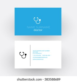Doctor business card images stock photos vectors shutterstock vector abstract sign stethoscope doctor business card colourmoves