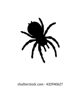 Vector of Abstract Silhouette Spider