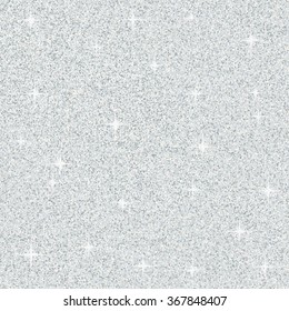 Vector abstract silver glitter texture for background. Silver seamless pattern/ texture. Vector illustration.