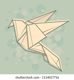 Vector abstract simple illustration drawing outline dove.