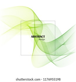 Vector Abstract smoky green wave background.Shield design brochure.