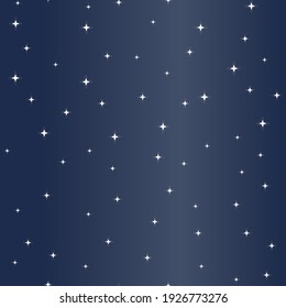 Vector Abstract Sparkling Sky in Navy Blue seamless pattern background. Perfect for fabric, wallpaper and web design projects.