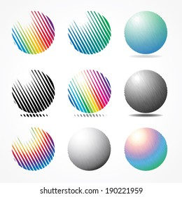 vector abstract spheres