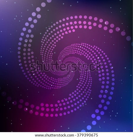 Vector Abstract Spiral on a Cosmic Background