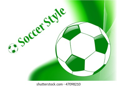 the vector abstract sport soccer background