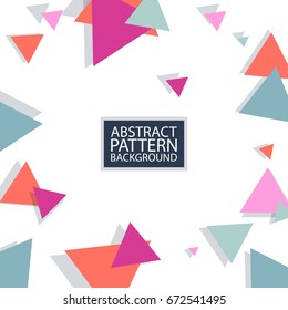 Vector abstract stripes pattern. Hipster geometric card background template