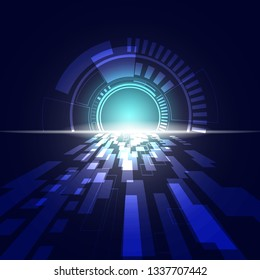 vector abstract technology background speed concept.
