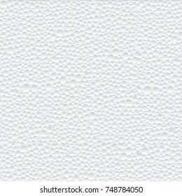 Vector abstract texture of closeup detail  white polystyrene foam background.