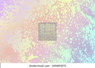 Vector abstract textured holographic background. Backdrop for banner, wrapping paper, print, cover, business card. Modern wallpaper design