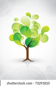 vector of abstract tree icon