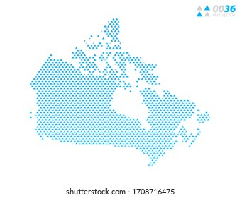 Vector abstract triangle blue of Canada map. Organized in layers for easy editing.