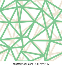 Vector Abstract Triangle Geometrical Green Outlines Background. Suitable for textile, gift wrap and wallpaper.
