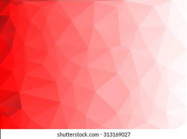 Vector abstract triangulated background   Red background   White background  