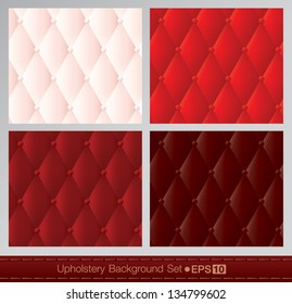 Vector abstract upholstery background. Red color set.