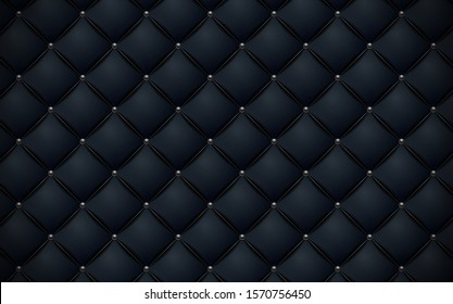Vector abstract upholstery Navy blue leather texture sofa background