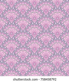 Vector abstract vintage hand drawn seamless pattern