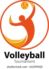 Vector abstract, Volleyball tournament logo event