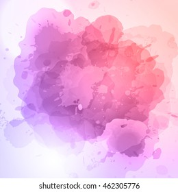 Vector abstract watercolor background. Delicate and light.