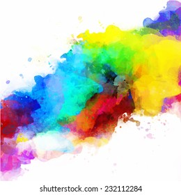 Vector abstract watercolor palette of mix colors, a mixture of colors, stains with a spray of water colors, the author's work.