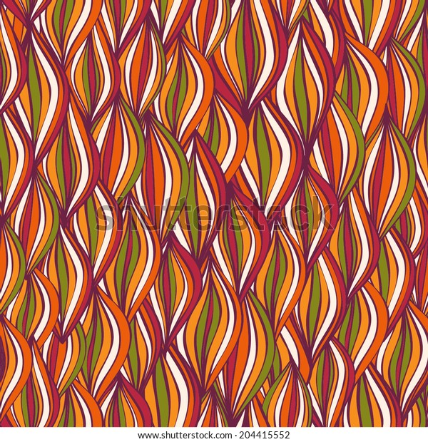 Vector abstract wave seamless pattern. Colorful wave background.