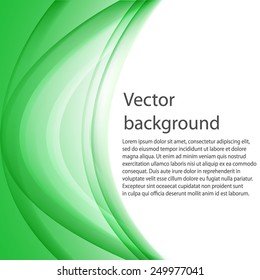 Vector Abstract wave template background brochure design. Vector illustration.