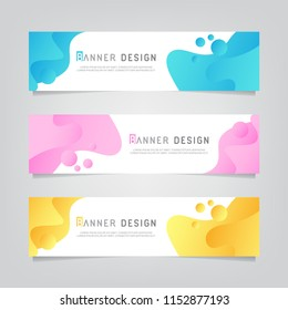 Vector abstract web banner design template. Collection of web banner template. Abstract geometric design banner web template on grey background. Header footer Web Design Elements