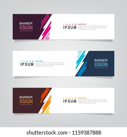 Vector abstract web banner design template. Collection of web banner template. Abstract geometric design banner web template on grey background. Header - landing page Web Design Elements