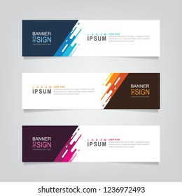 Vector abstract web banner design template. Collection of web banner template. Abstract geometric web design banner template isolated on grey background. Header - landing page Web Design Elements