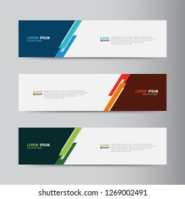 Vector Abstract Web Banner Design Template Collection Of Geometric