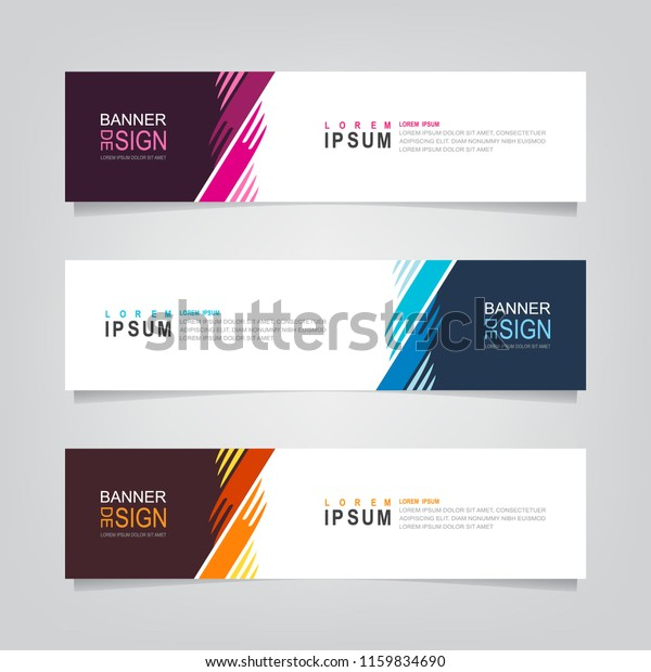 Vector Abstract Web Banner Design Template Stock Vector Royalty Free 1159834690