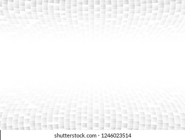 Vector : Abstract white and gray square on white background