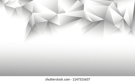 Vector abstract white and grey background wallpaper with random traingles in diamond style