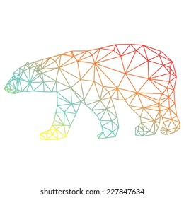 Vector abstract white polar bear