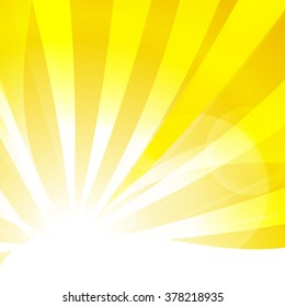 Vector : Abstract yellow stripe sun shine and empty space for text