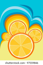Vector abstraction with a motif of oranges