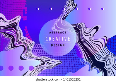 Vector abtract liquid background, fluid poster, cover. creative template, card. Geometric 3d design, shapes.
