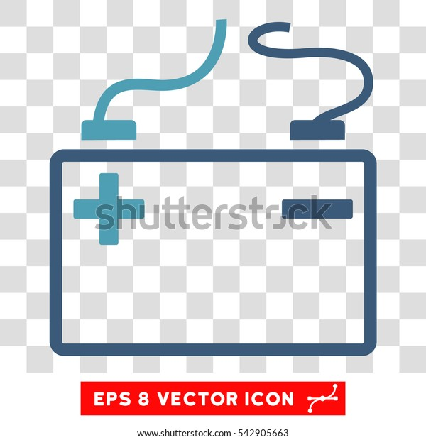 Vector Accumulator EPS vector icon. Illustration style is flat iconic bicolor cyan and blue symbol on a transparent background.