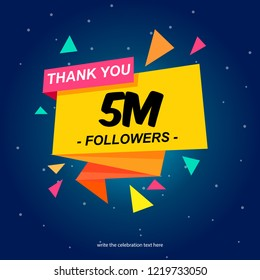 vector of achieving 5 million followers