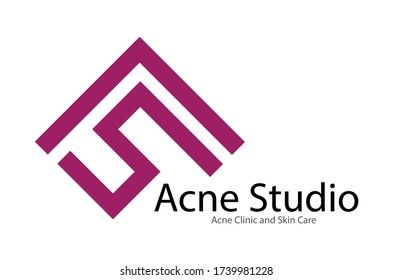Vector Acne Logo Design Template for Clinic Skin Care and Treatment