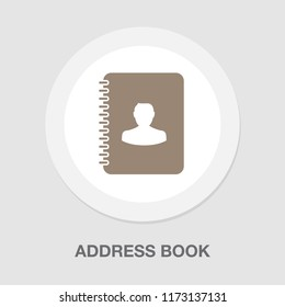vector address book. organizer, diary phone illustration. contact list symbol sign