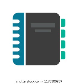 vector address book. organizer, diary phone illustration. contact list symbol sign