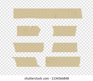 Vector adhesive tape. Isolated on a transparent background.